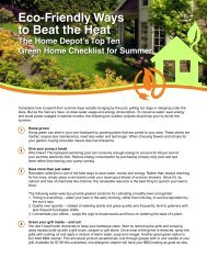 Eco-Friendly Ways to Beat the Heat - Home Depot