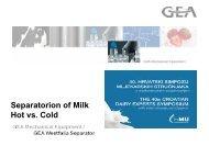 cold milk skimming separator