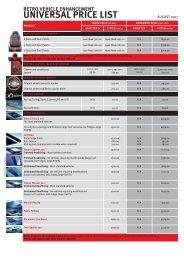 RVE Universal Price List - Retro Vehicle Enhancement