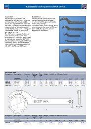 SKF Adjustable Hook Spanners - HNA Series - Waikato Bearings
