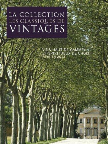 Les Classiques — février 2013 - Vintages