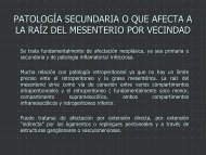 patología secundaria o que afecta a la raíz del mesenterio por ...
