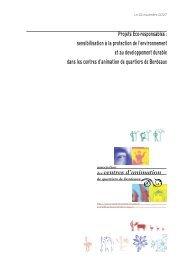 Projets Éco-responsables - retour à la page d'accueil de l'association