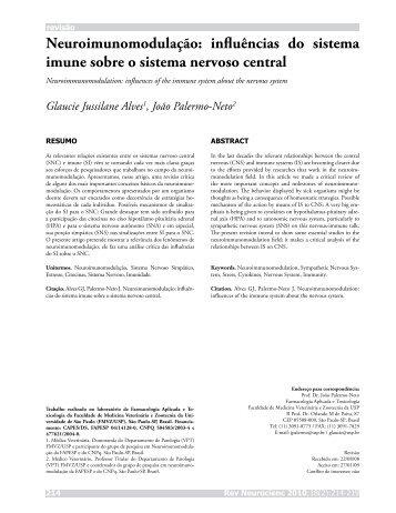 influências do sistema imune sobre o sistema nervoso central