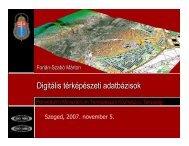 Digitális térképészeti adatbázisok