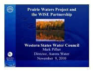 Prairie Waters Project and the WISE Partnership Western States ...