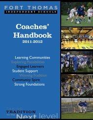 Coaches' Handbook - Fort Thomas Independent Schools