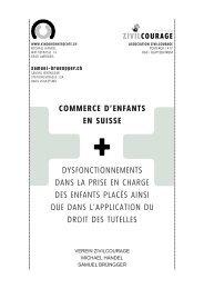COMMERCE D'ENFANTS EN SUISSE DYSFONCTIONNEMENTS ...