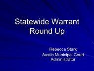 Warrant Round Up vs. Amnesty - Texas Municipal Courts Education ...