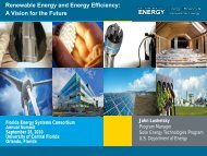 Renewable Energy and Energy Efficiency: A Vision for the Future
