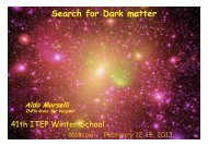 Search for Dark matter Aldo Morselli INFN Roma Tor Vergata