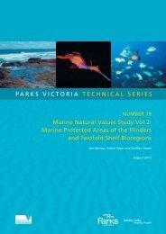 parks victoria technical series marine natural values study vol 2 ...