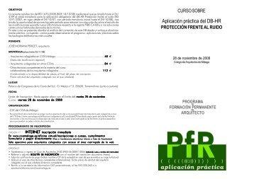 Aplicación práctica del DB-HR - Colegio Oficial de Arquitectos de ...