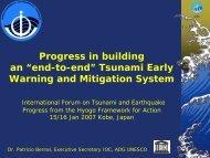 IOC Tsunami Activities - International Recovery Platform