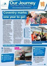 Edition 19 - October 2011 - Coventry 2012