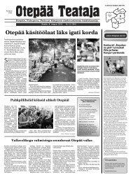 Otepää Teataja nr.12, 09.08.2013 - Otepää vald
