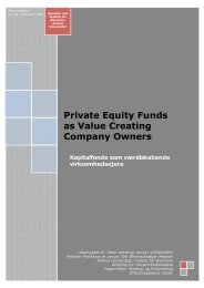 Social ulighed og tilslutning til velfærdsstaten Private Equity Funds ...