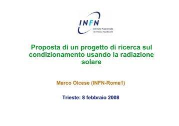 Proposta di un progetto di ricerca sul condizionamento usando ... - Infn
