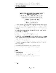 BIO1130 Midterm Examination – November 10, 2012 ... - Salinella
