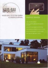 Ausgabe 01/2011 - Haus-Bau-System