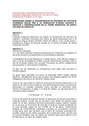 Ordenança sobre la incorporació de sistemes de captació d'energia ...