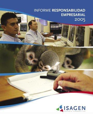 Informe de Responsabilidad Empresarial 2005 - Isagen