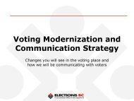 Voting Modernization and Communication Strategy - Elections BC