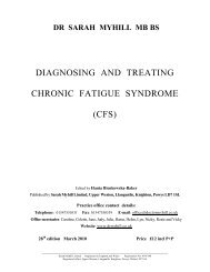 diagnosing and treating chronic fatigue syndrome (cfs)