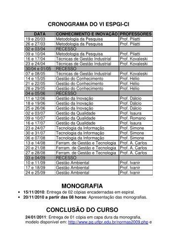 MONOGRAFIA CONCLUSÃO DO CURSO - UTFPR