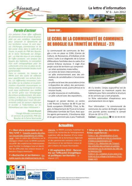 Lettre n° 6 du RRR HN - Réseau Rural Français