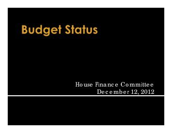 FY 2014 Budget Status Final Corrected - State