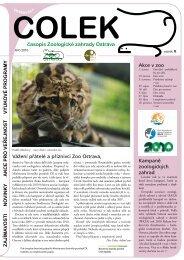 časopis Čolek jaro 2010 ( 0,91 MB ) - Zoo Ostrava