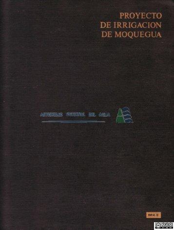 Proyecto de irrigación Moquegua - Autoridad Nacional del Agua