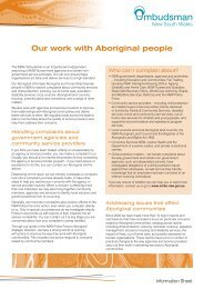 Our work with Aboriginal people - NSW Ombudsman - NSW ...