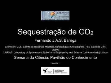 Fernando J.A.S. Barriga Semana da Ciência, Pavilhão do ...