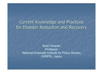 Current knowledge and practice on drr and ... - PreventionWeb