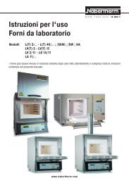 Istruzioni per l'uso Forni da laboratorio - laboshop