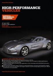 high-performAnce vehicles - Motorsport Industry Association