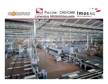 Pro.Line - CAD/CAM Lahendus Mööblitööstusele