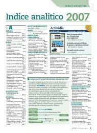 Indice analitico 2007 - L'Informatore Agrario