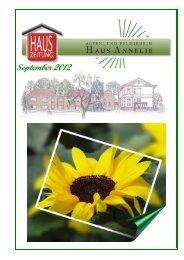 hauszeitung 092012 - Alten - und Pflegeheim Haus Annelie GmbH