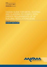 Design Guide For Metal Roofing And Cladding To Comply ... - MCRMA
