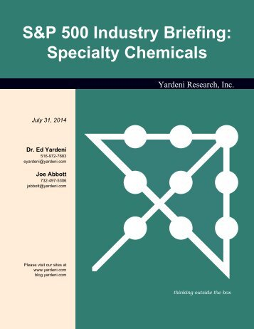S&P 500 Industry Briefing: Specialty Chemicals - Dr. Ed Yardeni's ...