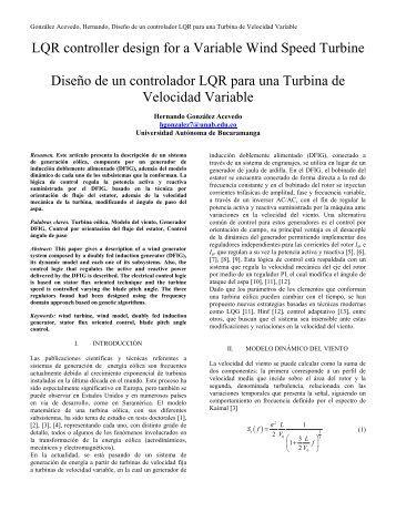 Turbina Velocidad Variable - EATIS.org