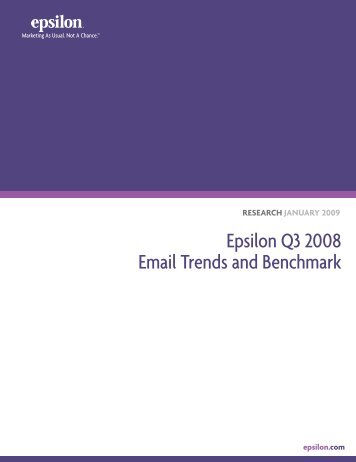 Epsilon Q3 2008 Email Trends and Benchmark