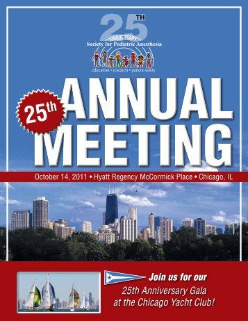 Meeting Program - The Society for Pediatric Anesthesia