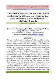 The effect of method, rate and time of urea application on nitrogen ...