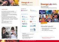 EnergyLab Flyer - Wissenschaftspark Gelsenkirchen