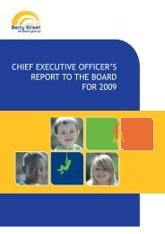 CEOs Yearly Report 2009 - Public Version - Berry Street