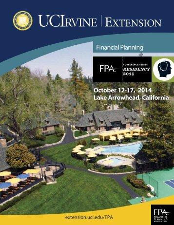 2012 FPA Residency Program Brochure - UC Irvine Extension